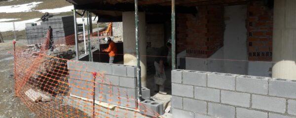 Continúan las obras en el Refugio de Belagua